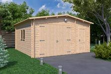 Houten Schuur Kopen : Houten garages houten schuren blokhutwereld